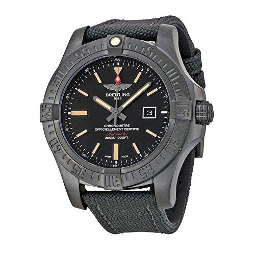 bc7881f1e Breitling Avenger Blackbird Volcano Esfera de color negro antracita Militar  v1731010-bd12bkft - Reloj de hombre: Amazon.es: Relojes
