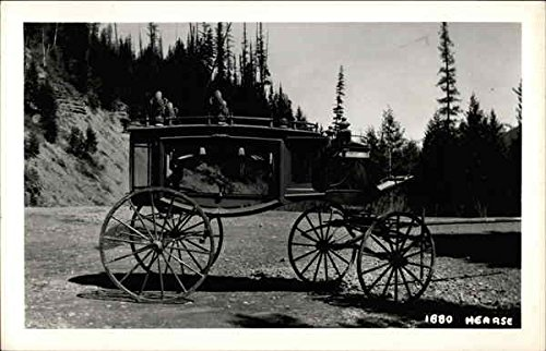 - 1880 Hearse Death Original Vintage Postcard