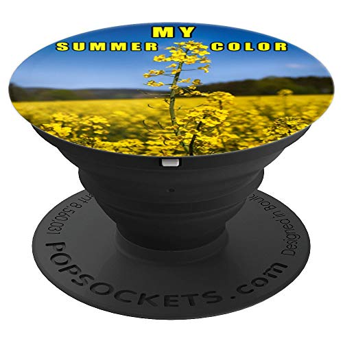Rape Flower Field My Summer Color Yellow PopSockets Grip and Stand for Phones and Tablets