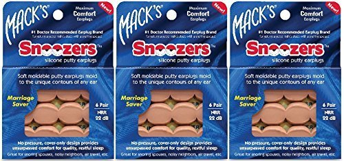 Macks Snoozers Moldable Silicone Earplugs product image