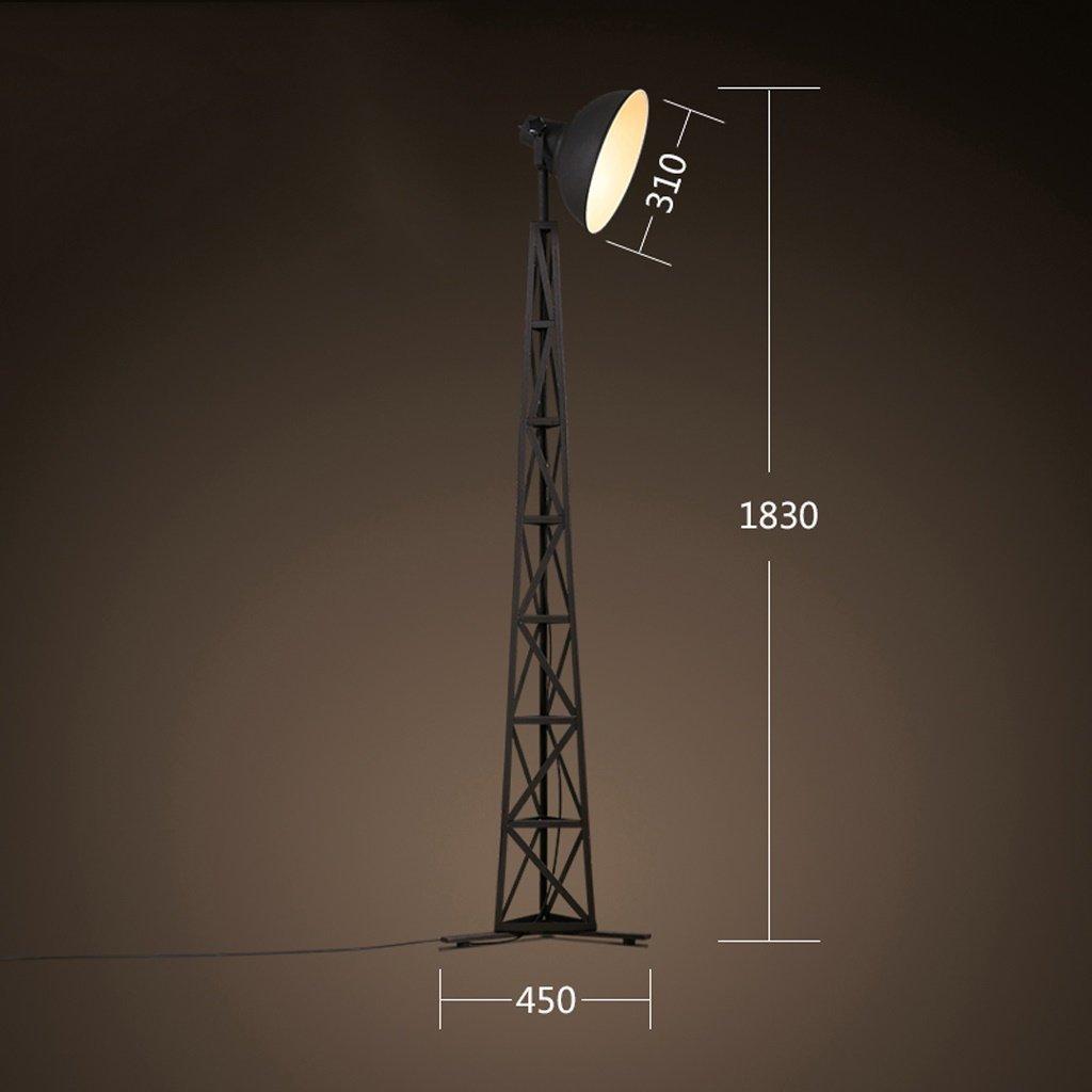 Amerikanische ländliche Industrie Loft retro kreative Schlafzimmer Wohnzimmer Schlafzimmer Nachtfischen Lampe Metall lang - Arm Stehlampe