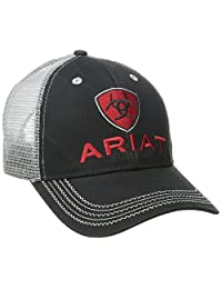Ariat Men's Black Red Gray Mesh Hat