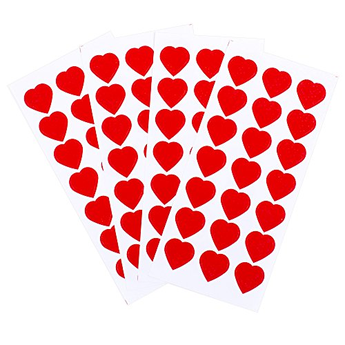 Hallmark Mahogany Stickers 84 Count (Sparklebrite Hearts) - 5VSS1633 ()