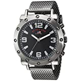 U.S. Polo Assn. Men's Quartz Metal and Alloy Casual Watch, Color:Black (Model: US8816)