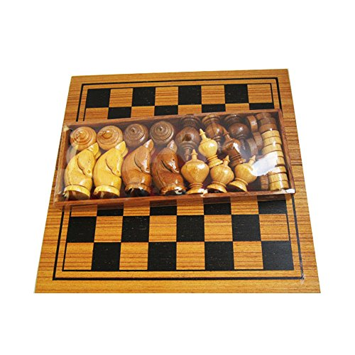 Makruk Thai Chess Set Vintage Board And Pieces Wood Box