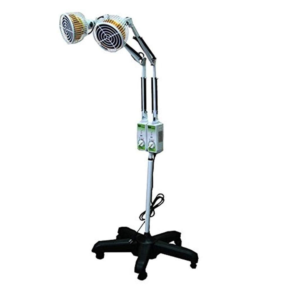 XYYMC Infrared IR Heating Floor Lamp Double Head TDP Mineral Infrared Heat Light for Thermotherapy Muscle Pain Relief