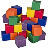 Costzon 8'' Soft Blocks, Stacking Playset, Foam Building Blocks for Kids (24 Pieces)