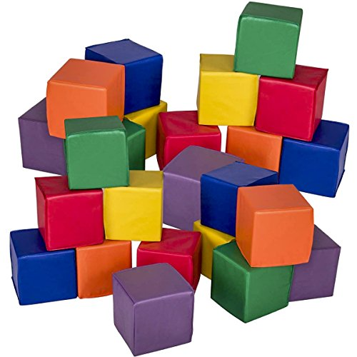 Costzon 8'' Soft Blocks, Stacking Playset, Foam Building Blocks for Kids (24 Pieces) by Costzon