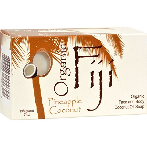 Organic Fiji Organic Face and Body Coconut Oil Soap Pineapple Coconut - 7 oz - (Pack of 3)