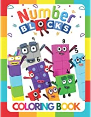 Numberblocks Coloring Book: High-Quality Coloring Pages Numberblocks 1-100 for Kids 4-8!