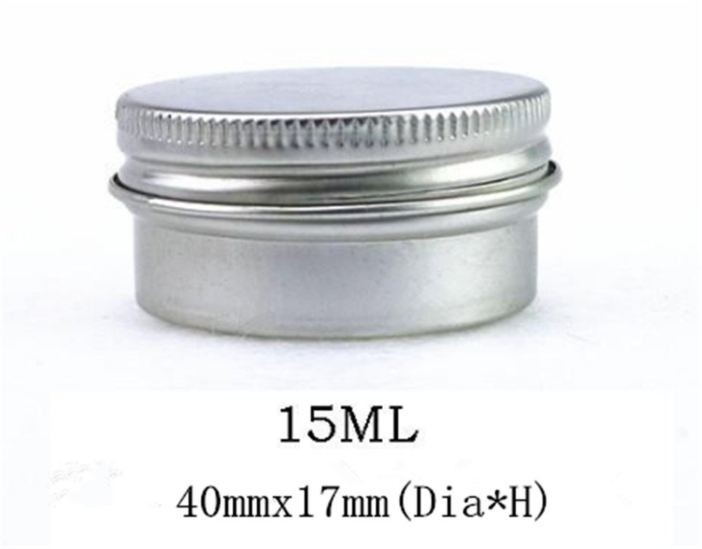 Interesting/® 4pcs Portable Argent Cosm/étiques vides Aluminium Pot Jar Bo/îte Lip Gloss Maquillage Conteneur bo/îte de rangement 15/ ml + 30/ ml + 60/ ml + 100/ ml