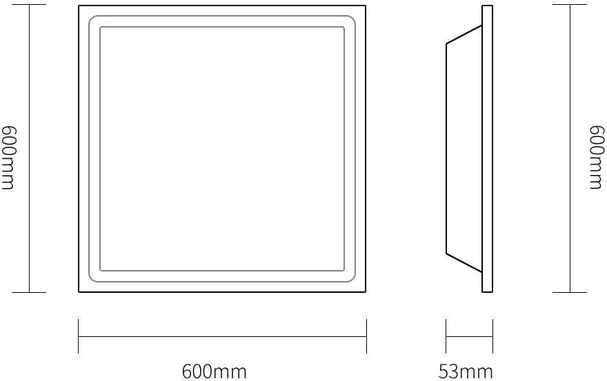 LED-Decken Panel Flat Tile Panel-Strahler, weißer Körper, warmes weißes/kaltes Weiß/Natur-Lampe für Home Office Handelsbeleuchtung Ma0108509