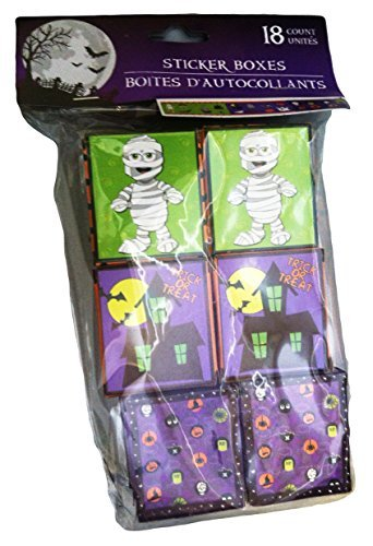 Halloween Sticker Party Favor Boxes - 18/pkg. by Greenbrier (Halloween Lunch For School)