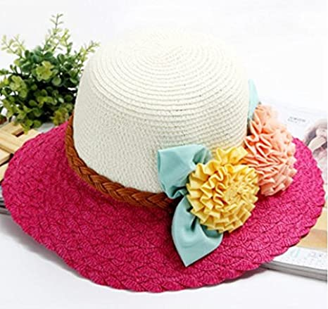 d907cffd5e6e7 Image Unavailable. Image not available for. Color  Rose Red Hat Lady Summer  Sun ...
