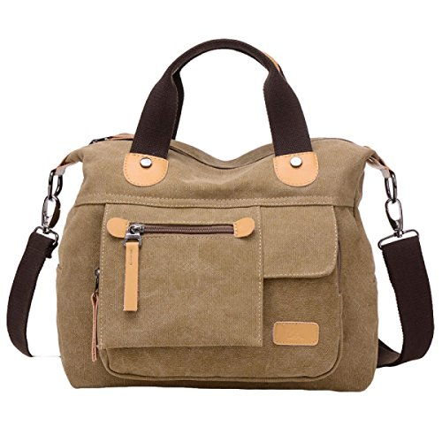 Retro Lona Messenger Brown1 Multi De funcional Bolsa Simple De Neutral Moda Casual Bolsa Hombro xIYfPwfq