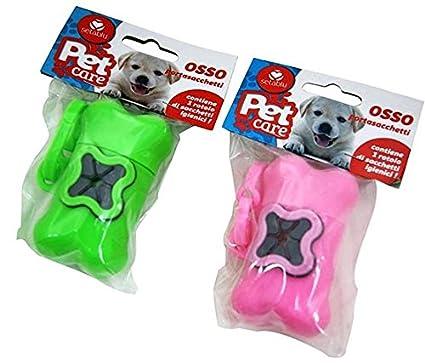 Hueso Porta bolsas higiénicas para perro, varios colores ...