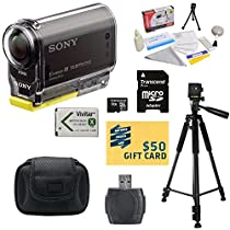 Sony HDR-AS30V HD POV Action Camcorder with Best Value Accessory Kit Includes - 16GB Micro SD Card + Card Reader + High Capacity Li-ion Battery + Hard Shell Carrying Case + Professional 60