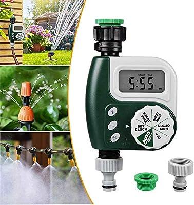 جهاز ري اوتوماتيكي يتحكم في الرذاذ مع شاشة ال سي دي مقاومة للماء، يستخدم لري النباتات في الحديقة والشرفات، يعمل حتى 30 يوم من انفينيتو