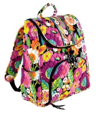(Vera Bradley Double Zip Backpack in Va Va Bloom)