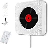 Wall Mountable CD Player, WINSSES HiFi Speaker with Bluetooth, Remote Control, USB, 3.5mm Headphone Jack AUX input/output