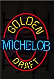 Old Vintage Michelob Golden Draft Real Neon Glass Light Handicrafted Real Glass Tube19x15 The Fastest Free Shipping
