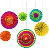 Amscan Fiesta Paper Fan Decorations (Set of 6)