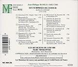 Rameau - Les Surprises de l'Amour (suite en concert) / Les Musiciens du Louvre, Minkowski