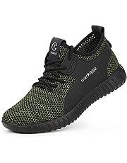 TQGOLD® säkerhetsskor män kvinnor stål tå keps träningsskor lättvikt S3 arbetssneakers
