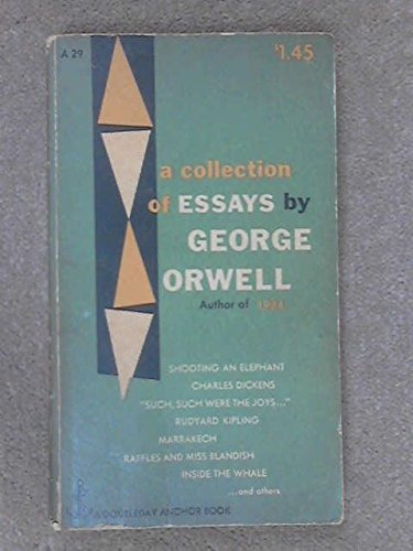 A collection of essays (Doubleday anchor books, A29)