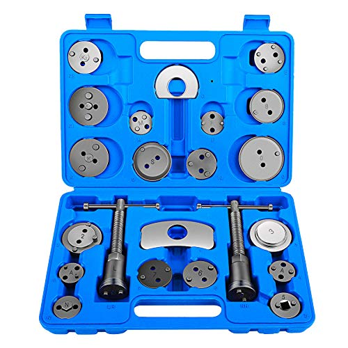 Heavy Duty Disc Brake Piston Caliper Compressor Tool Set and Wind Back Kit for Brake Pad Replacement, Fits Most American, European, Japanese Models ()