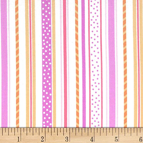 Michael Miller 0575861 Ice Cream, You Scream Straws and Sprinkles Sherbet Fabric by The Yard