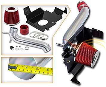 RED Cold Air Intake Kit+Heat Shield for 05-10 Dodge Chrysler HEMI 5.7L 6.1L V8