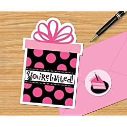 Oh So Fabulous Another Year Fab Invitation Value Pack (20) Invites Zebra Party