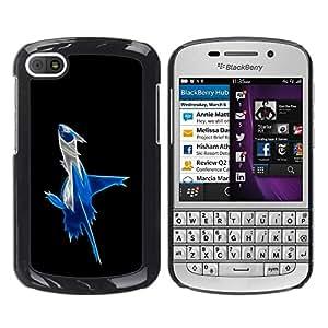 TopCaseStore / la caja del caucho duro de la cubierta de protección de la piel - Abstract Blue Splash - BlackBerry Q10