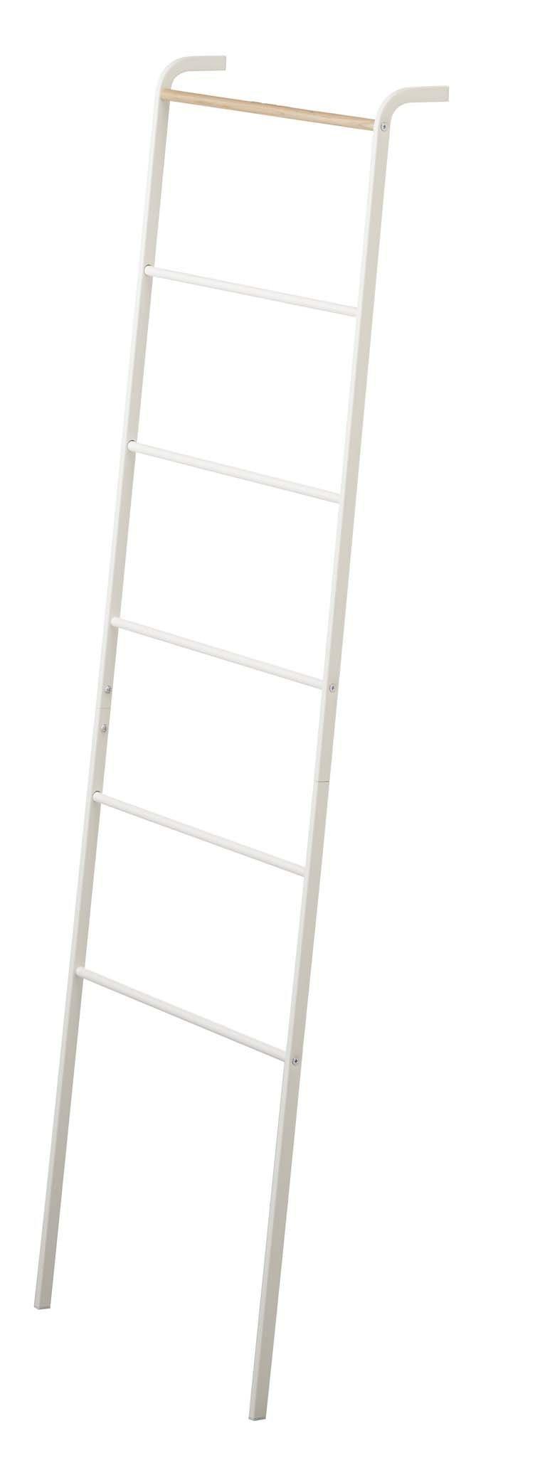 YAMAZAKI home Tower Leaning Ladder Rack White