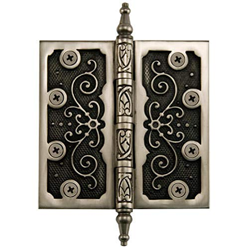 Antique Brass Ornate Hinges - Naiture 4-1/2