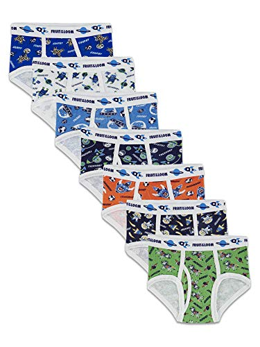 Fruit of the Loom Days of the Week  Brief, Assorted Prints, 4T-5T(Pack of 7)
