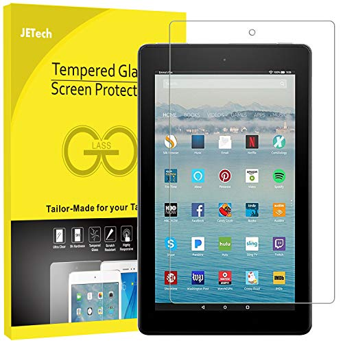 JETech Screen Protector for All-New Amazon Fire HD 10 (7th Generation - 2017 Release) 10.1 Tablet Tempered Glass Film
