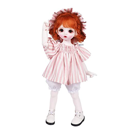 W&Y 1/6 BJD Doll 26cm 19-Joints SD muñecas con Traje Vestido ...