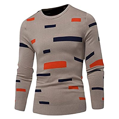 S-Fly Men's Youth Printing Crewneck Slim Fit Knitting Pullover Sweaters for cheap