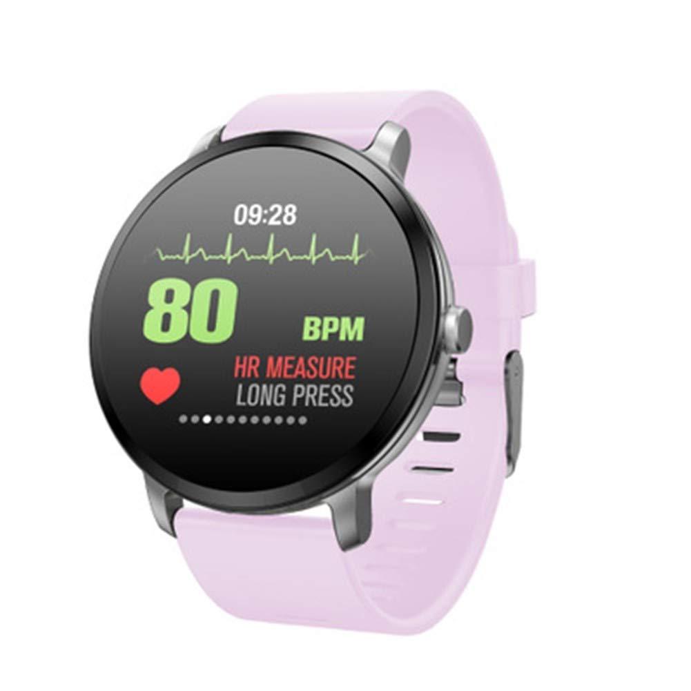 GBVFCDRT 1,3 Zoll V11 Sport Smart Watch Farbe Wetter Ip67 Wasserdicht Anruf Nachricht Erinnerung Pulsmesser Blautdruck Smartwatch