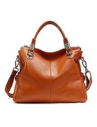 Paste Genuine Leather Handbags for Women Ladies Shoulder Bags Big Capacity Top-handle Bag