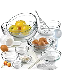 PickUp Anchor Hocking 10-piece Glass Mixing Bowl Set Different Size - Large to Small. Beautiful, Compact Bowls Set. discount