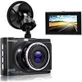 JINRAN Dash Cam 1080P 3.0 FHD Car Camera Car Camcorder 140°Wide Angle Car On Dash Video with WDR, Super Night Vision, G-sensor, Parking Monitor, Loop Recording