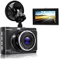 Dash Cam 1080P 3.0 FHD Car Camera Car Camcorder 140°Wide Angle Car On Dash Video with WDR, Super Night Vision, G-sensor, Parking Monitor, Loop Recording