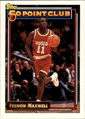 1992 Topps Gold Basketball Card (1992-93) #210G Vernon Maxwell Near (1992 Topps Gold Card)