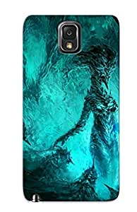 Hard Plastic Galaxy Note 3 Case Back Cover, Hot Ice Demon Case For Christmas's Perfect Gift