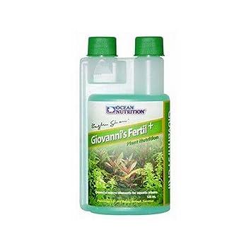 MULTIHOBBIE® ABONO PLANTAS ACUÁTICAS GIOVANNIŽS FERTIL + OCEAN NUTRITION 125ML FERTILIZANTE PLANTAS ACUARIO: Amazon.es: Jardín