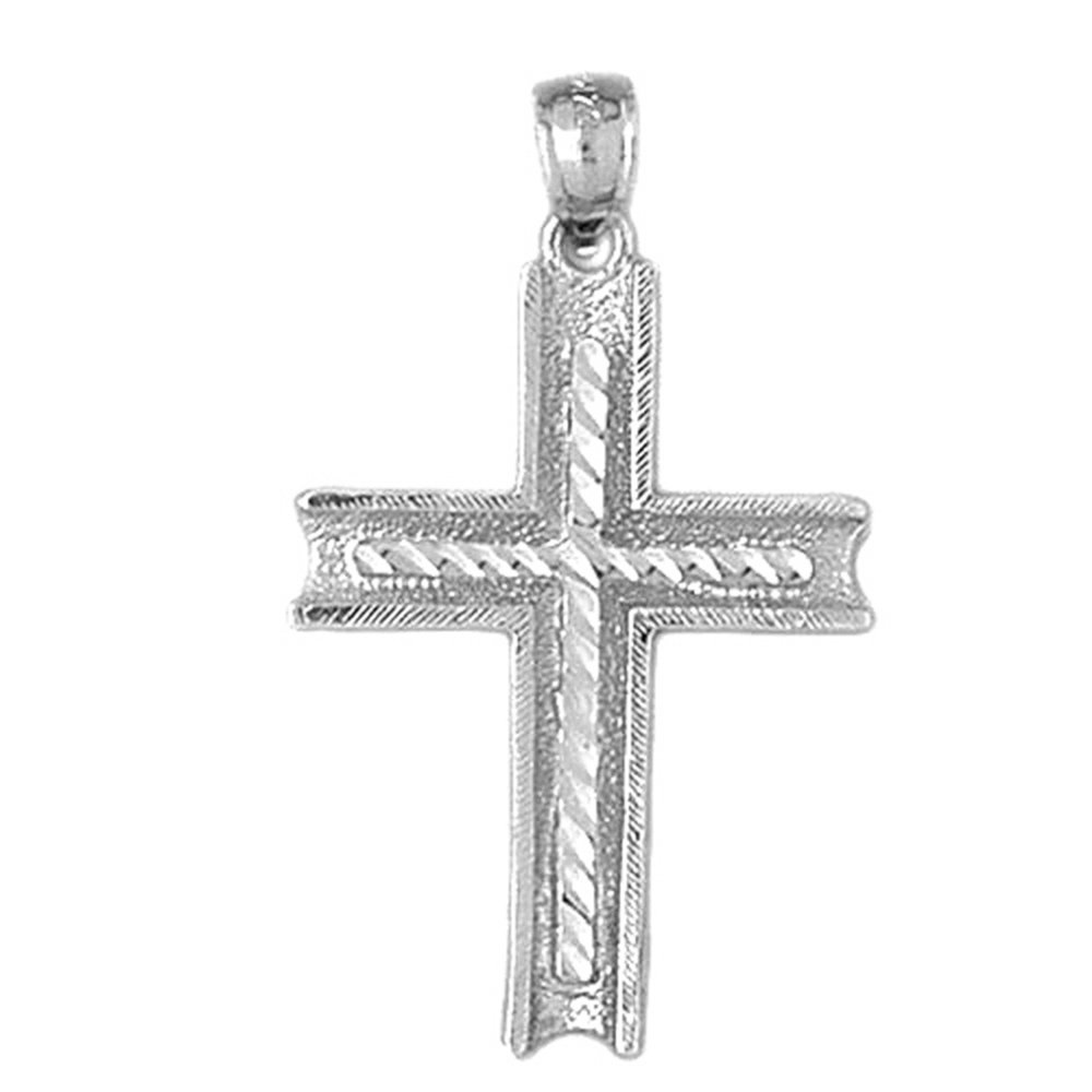 36 mm Jewels Obsession Cross Pendant Sterling Silver 925 Cross Pendant