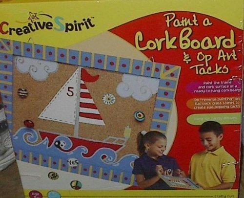 Paint a CorkBoard & Op Art Tacks by Creative Spirit